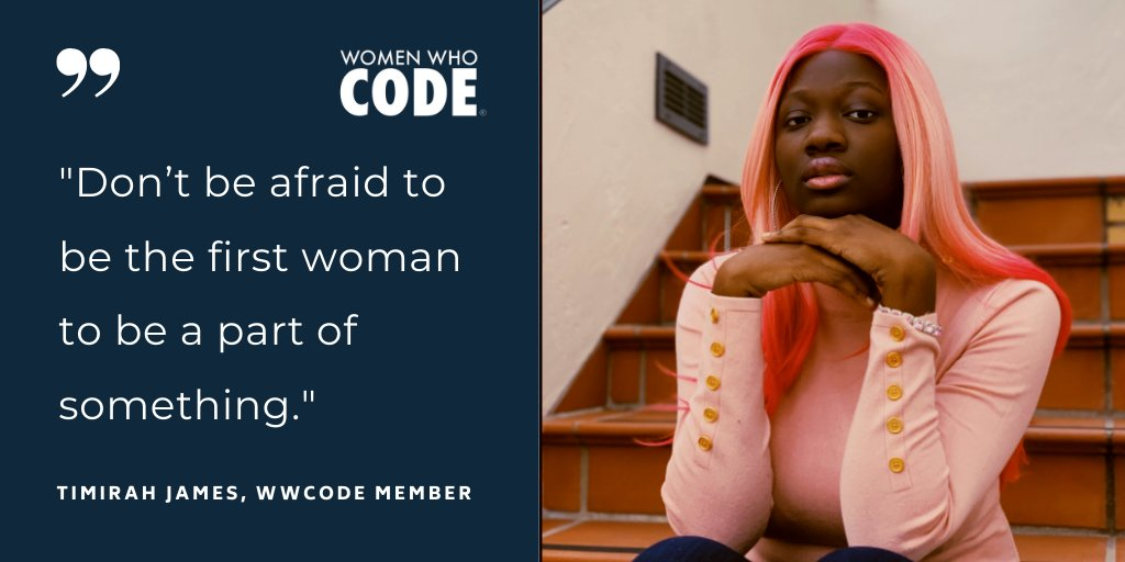 💪🏽  Don't be afraid to be first!  #womenwhocode #womenintech https://t.co/2cTRYABjXT