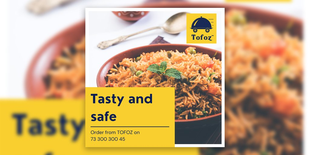 Tasty and safe food  Android and Web app coming soon  Stay Home Stay Safe Get the best food delivered to your house with the best safety Order on 73 300 300 45  #lockdown #lockdownindia #lockdown5 #selfisolation #manchar #lunch #besecure #dinner #rain #lunchtime #food #TOFOZ #PIC https://t.co/hw6k3HPx8q