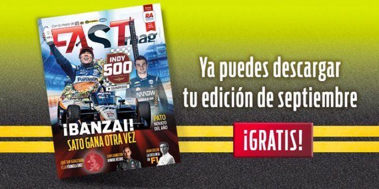¡NO LO OLVIDES!  Descarga #GRATIS la edición digital de nuestra revista de #septiembre en este enlace —> https://t.co/KTvFiUlNY0  #FASTMag #AceleraTuPasión #Racing #Motorsport #Indycar https://t.co/dFgAmQn7ht
