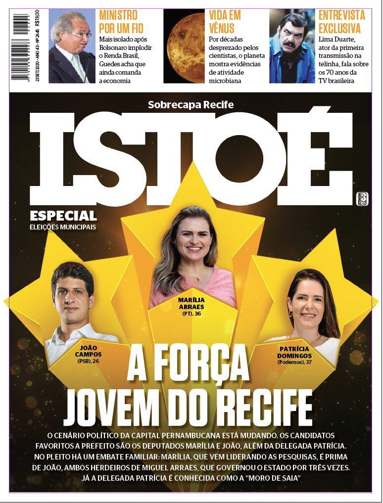 A capa da @RevistaISTOE desse final de semana destaca: estamos na frente! Obrigada ao Recife por acreditar na minha experiência e vontade de fazer uma cidade mais inteligente. https://t.co/sBRq11iBqP