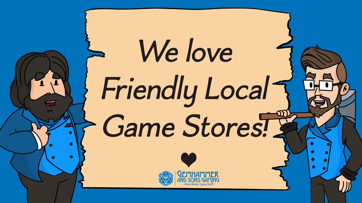 Are you a friendly local game store? Do you need More, Better, Game stuff on your shelves? Then Gemhammer and Sons wants to partner with you!  https://t.co/GMbtptdP1f  #friendlylocalgamestore #FLGS #gamestore #tabletopgames #tabletop #dnd #5e #pathfinder #d20 #dnd5e # https://t.co/WlO07IOswR