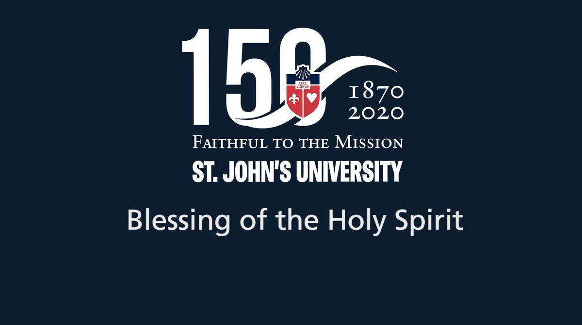 The gifts of the Holy Spirit give us the grace and strength to move forward and live out our mission. Every September, we ask for Gods blessing on our community and this year, Campus Ministry gathered virtually. Watch: bit.ly/3mAzb4P. 🙏 #WeAreStJohns #StJohns150