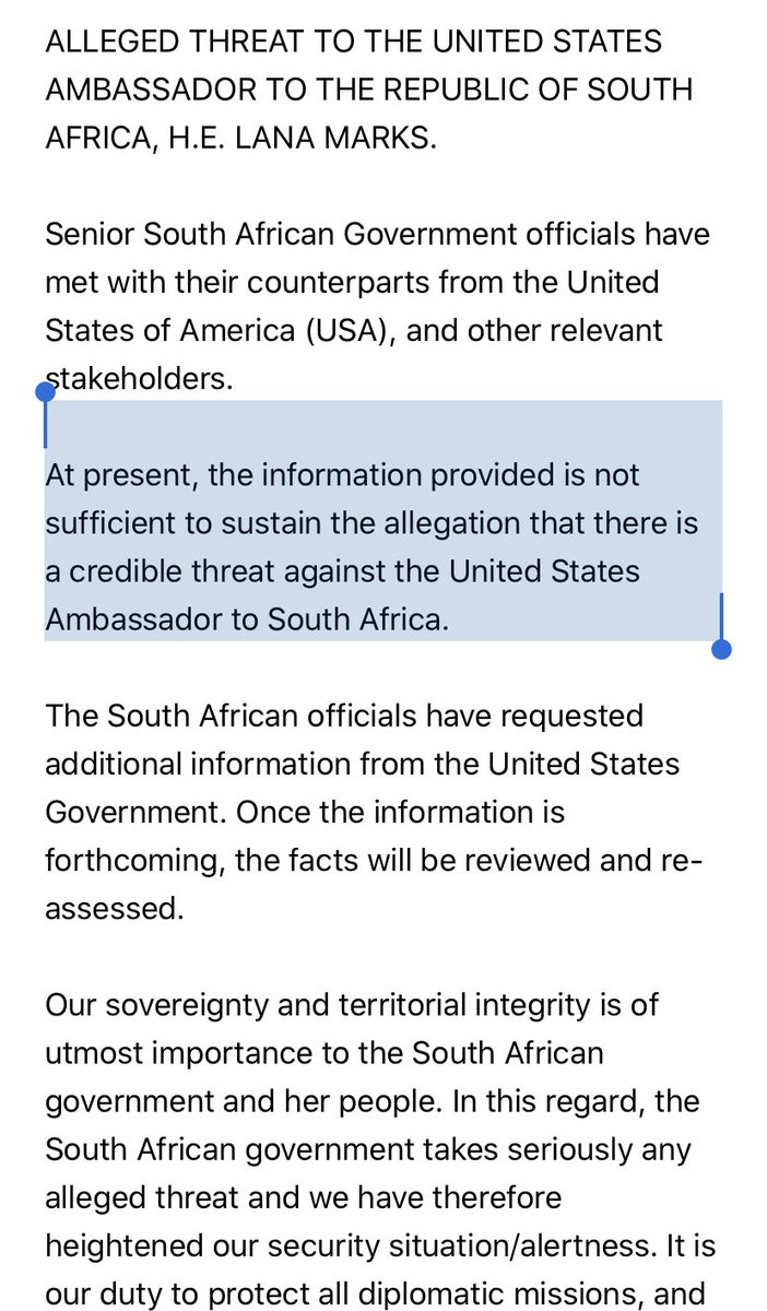 The story that the Iranian regime was planning to kill the US ambassador to South Africa was a lie.  It was intended to prep the American public for war with Iran. https://t.co/0X5gw5aYEa