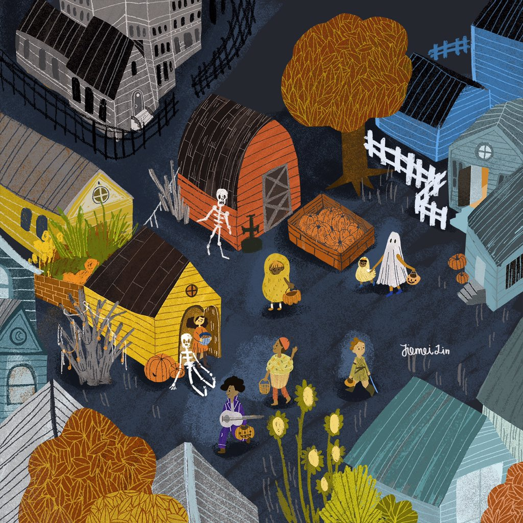Ok, i need Halloween, like, Right Now!! #halloween #favoritedayoftheyear #trickortreat #illustration #childrensbookillustration #kidlitart #illustrator #illustrationartists #fall #wacomcintiq #ablaillustrator #scbwi #scbwiillustrator #Halloween2020 #scbwiillustrators https://t.co/OLA8N9rMos