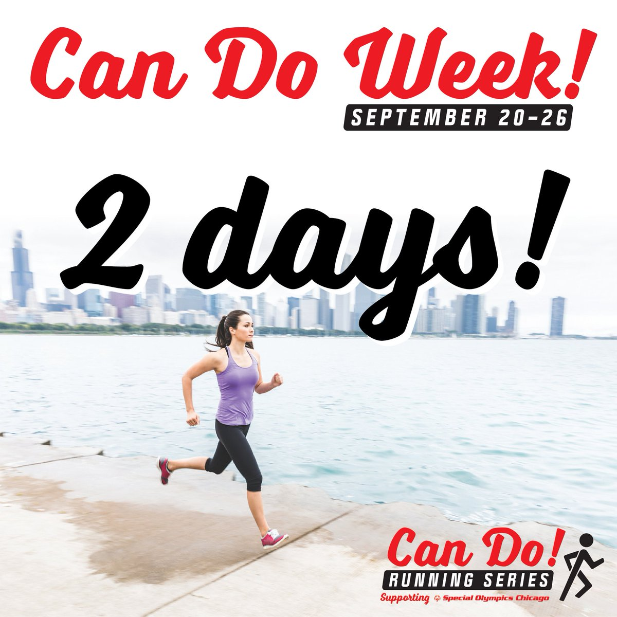 2 days until Can Do Week! Sign up for the #CanDoRunningSeries, run a virtual race, and raise $100 by September 26 and you'll be eligible for great prizes like Aftershokz headphones, a Garmin Vivofit, or a Fleet Feet gift card! Register today at https://t.co/rouq0MwF7N https://t.co/foJcAnFvVK