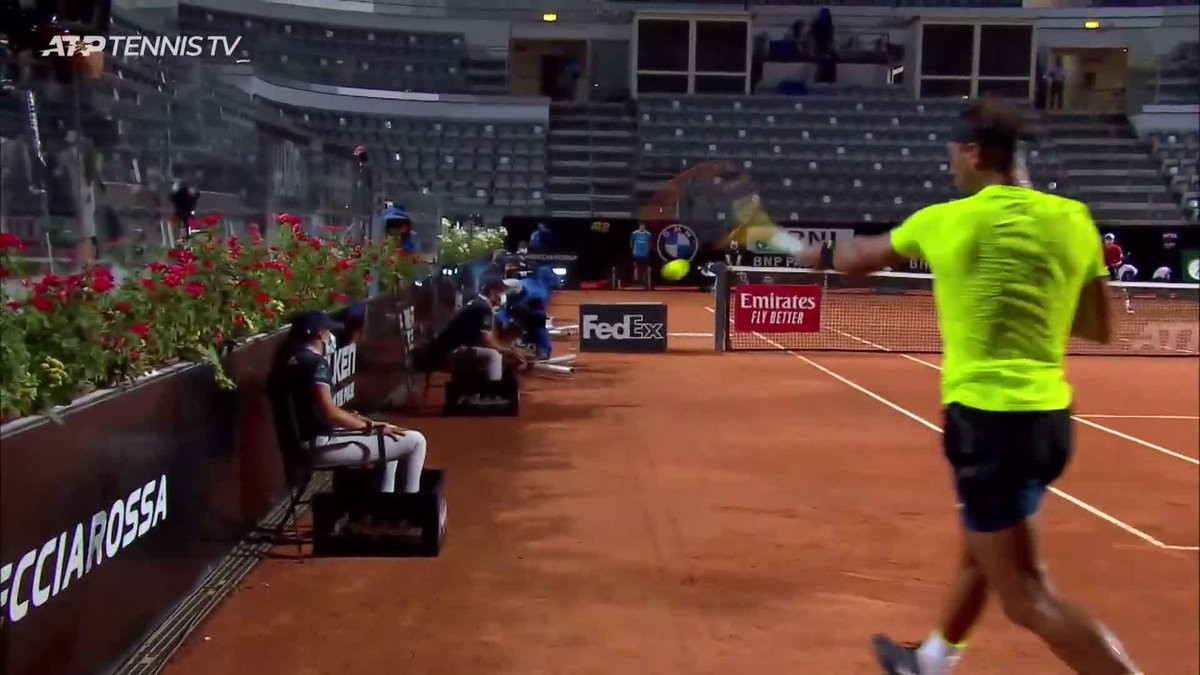 Advanced service returns 🚀🚀  Your instructor 👨‍🏫: @RafaelNadal  #IBI20 https://t.co/EGLFJH1obW