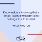 """Image for the Tweet beginning: """"Knowledge is knowing that a"""