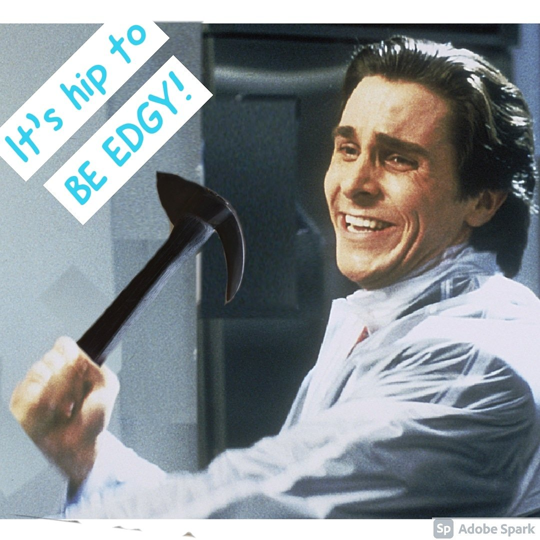 You'll be all grins with an Empress Tomahawk in your hands! Everyone who holds one experiences true joy. Y'all all have a great Friday!   #grin #axe #swing #headshot #badphotoshop #hueylewisandthenews #itshiptobesquare #christianbale #patrickbateman #americanpsycho #horror https://t.co/zFR7F8uQUd