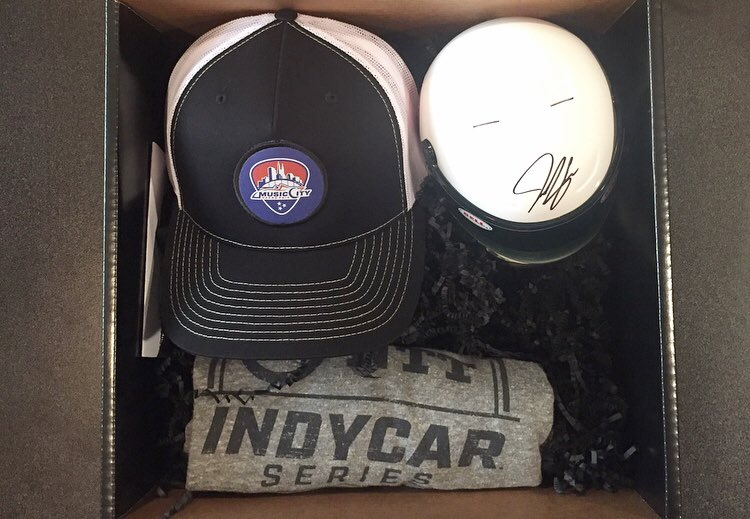 Lets keep the hype going! We've got a #MusicCityGP gift box to give away to one lucky fan. And yes, that's a signed @josefnewgarden mini helmet.💯 Reply and tag two people you're coming with next year for a chance to win. Winner announced 9/21. https://t.co/hj7UsUpYfP
