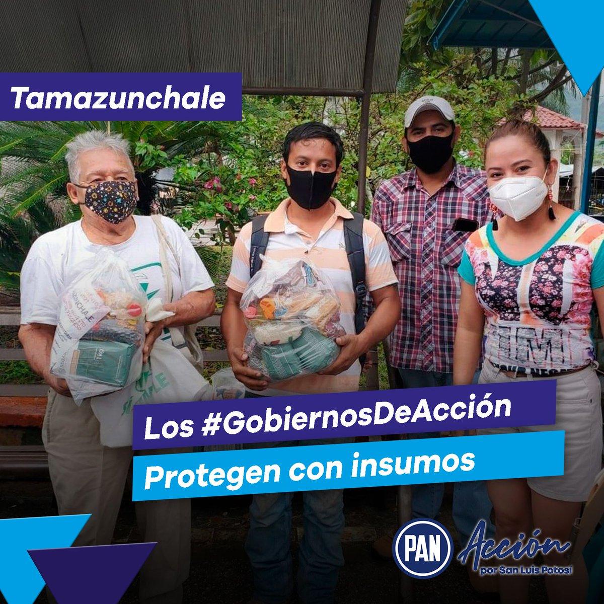 Los #GobiernosDeAcción se preocupan por su gente y las necesidades de la población. 👍  En Tamazunchale, nuestros gobiernos panistas han apoyado al Cuerpo de Bomberos y a los Aseadores de Calzado con despensas y apoyo alimenticio. 🙌🔵 https://t.co/sgIslBOIvc
