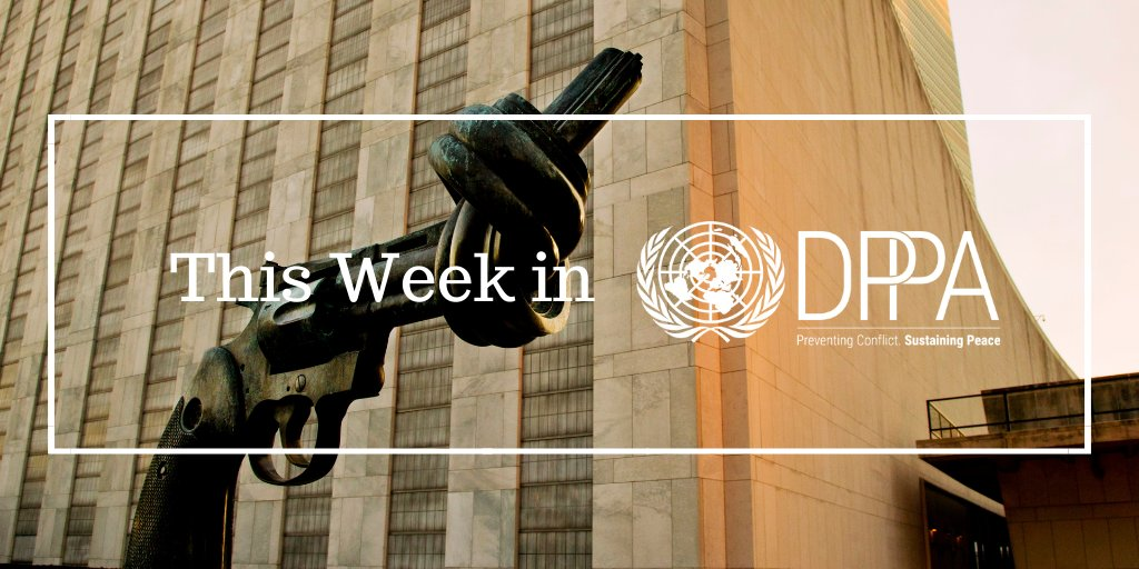 """In """"This Week in DPPA"""": #COVID19 updates from #Libya and #Afghanistan; meeting on the #peace agreement in #Colombia; interview with Resident Coordinator in Côte d'Ivoire - and more: https://t.co/ZwWsToqfwW https://t.co/cSnlsO8ZPQ"""