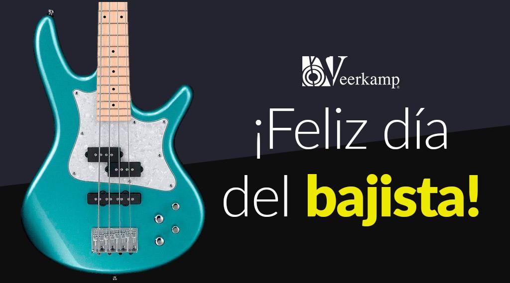¡Feliz #DíaDelBajista! 🤘🔥  👉 Queremos felicitar a todos los bajistas que forman parte de nuestro #TalentoVeerkamp: @HectorHellion, @eltalcha, @SixtoVenganza, @LuisHerediabass,  @Ayalagarras, @PonchoSabino, @rubentos y @pinabass. 🥳  #JuntosHaciendoMúsica 🎶 https://t.co/9JVXP64ZcJ