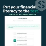 Image for the Tweet beginning: Our financial literacy quiz puts