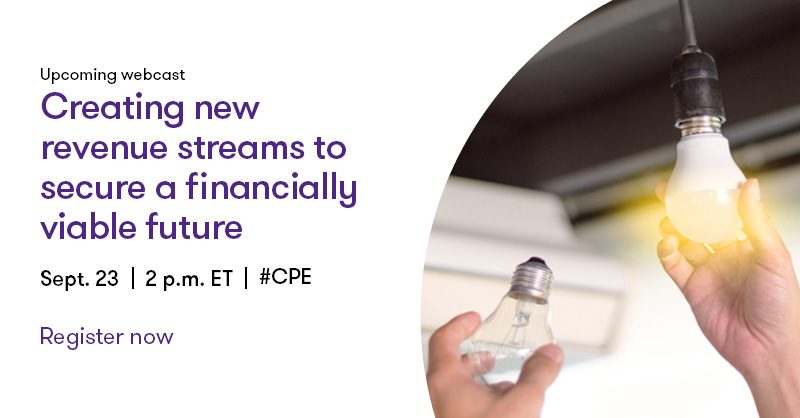 Register for our #CPE #Webcast on 9/23 with Joseph Mulligan and Mary Torretta as they discuss how #NotForProfit organizations and #HigherEducation institutions are identifying new revenue streams to help secure financial stability. https://t.co/ueD9KVXU3R #webinar https://t.co/0GwAmFSMgh