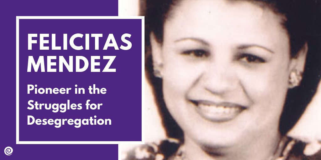 We remember #PuertoRican activist #FelicitasMendez for her civil rights battle that helped end segregation in the United States education system.  Read more on her story here: https://t.co/7L5kteR485 #CentroCelebratesHHM #HispanicHeritage https://t.co/t3JmCAVpmi