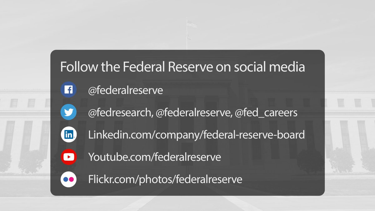 Follow us on social media:  @fed_careers @fedresearch  https://t.co/F0kiJY3SrP https://t.co/L847PGZouQ  https://t.co/FJa6TbkDMt  https://t.co/FFOXQkEGur https://t.co/OkJltXwWPQ