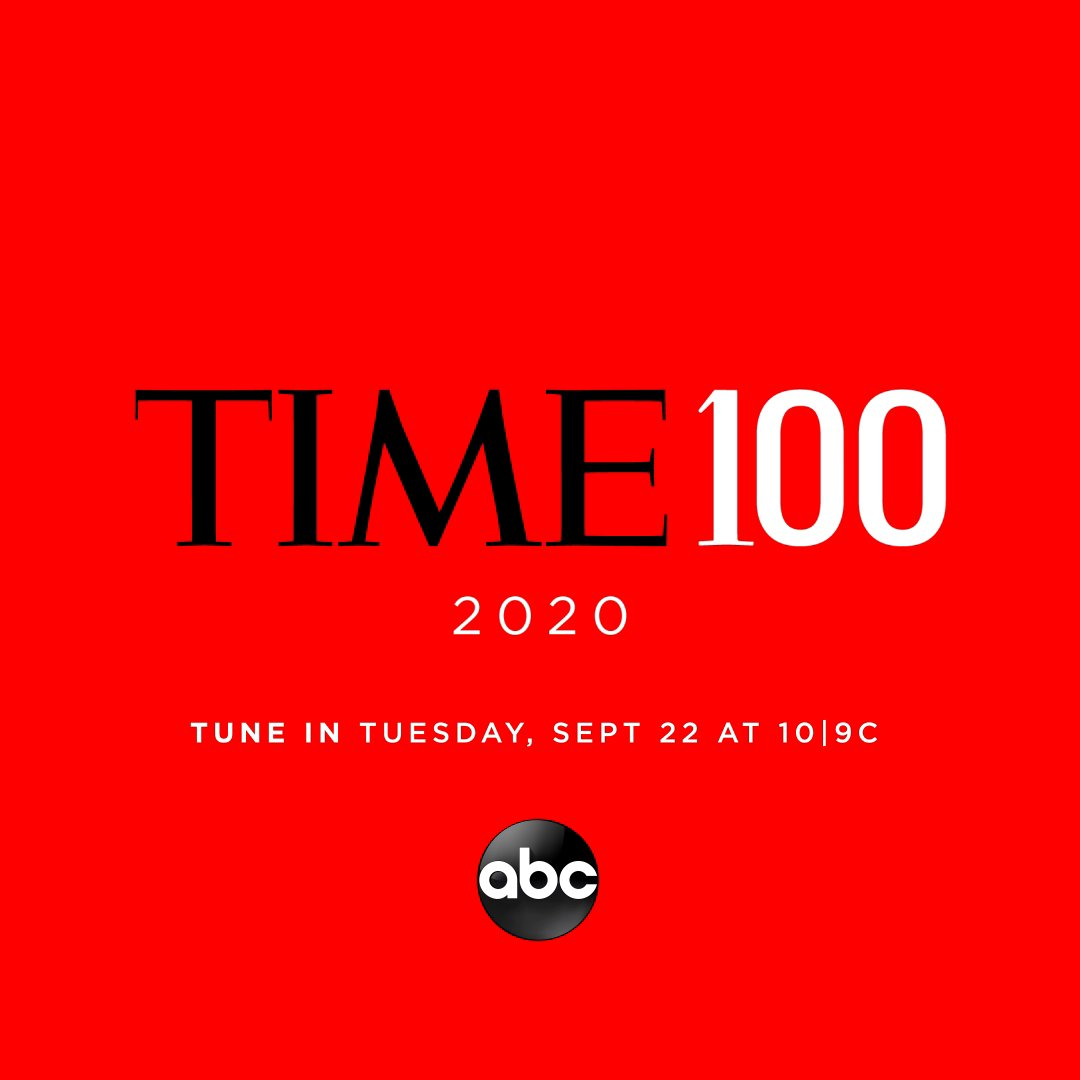 Watch the #TIME100 on Tues., Sept. 22 at 10 9c