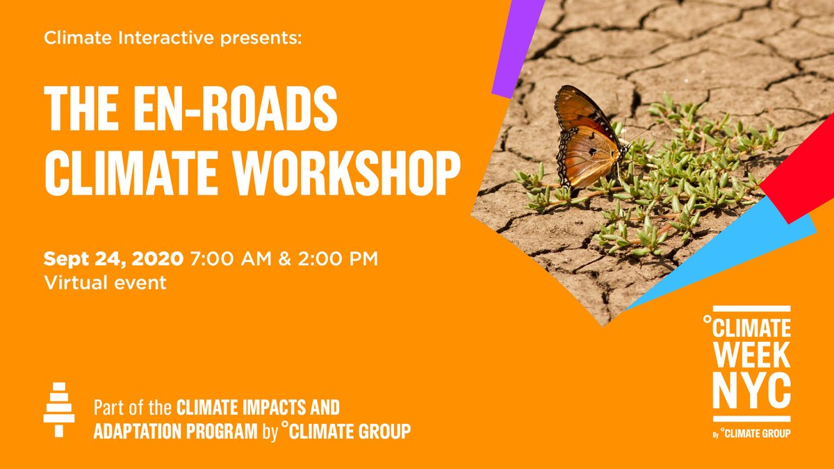 Join us Thursday, 9/24 for one of our #ClimateWeekNYC events! We'll be hosting two sessions (7am & 2pm ET) of the #EnROADS Climate Workshop featuring Co-Director @AndrewPJones, using the En-ROADS Simulator co-developed w/ @MITSloanSusty!  Register: https://t.co/bF1V144IsY https://t.co/BPLxnFdSpW