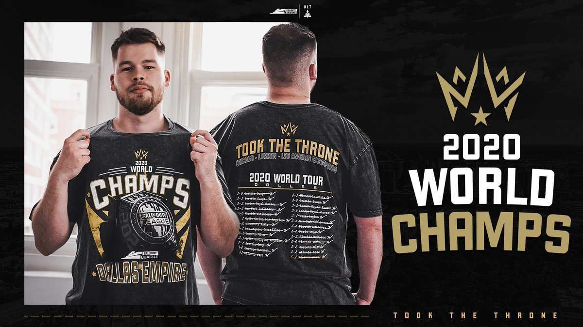 BY POPULAR DEMAND: THE @DallasEmpire CHAMPS TEE IS HERE Pre-order the tee to commemorate the first @CODLeague Champions bit.ly/3ksnVWw