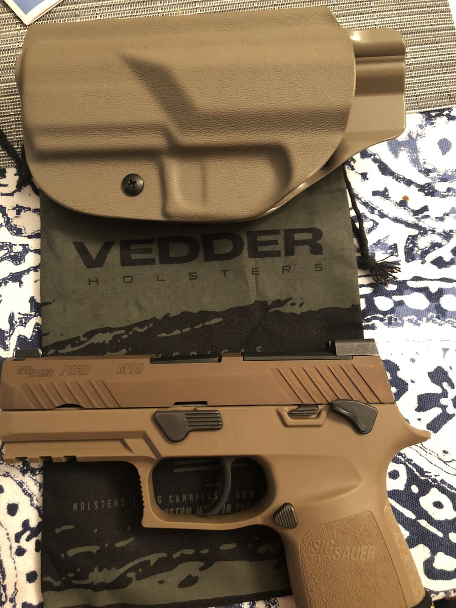 Thank you @VedderHolsters I can not explain how satisfied and ecstatic I am to receive my holster. Great quality and I cannot wait to purchase another holster from your great #familyowned company.