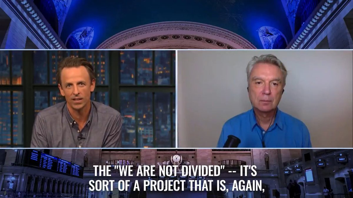 """David Byrne's #WeAreNotDivided project is his """"solutions journalism"""" effort to demonstrate how people have more in common than they may think. @DBtodomundo https://t.co/V6ETQI1tJ9 https://t.co/27Xesmwhcn"""