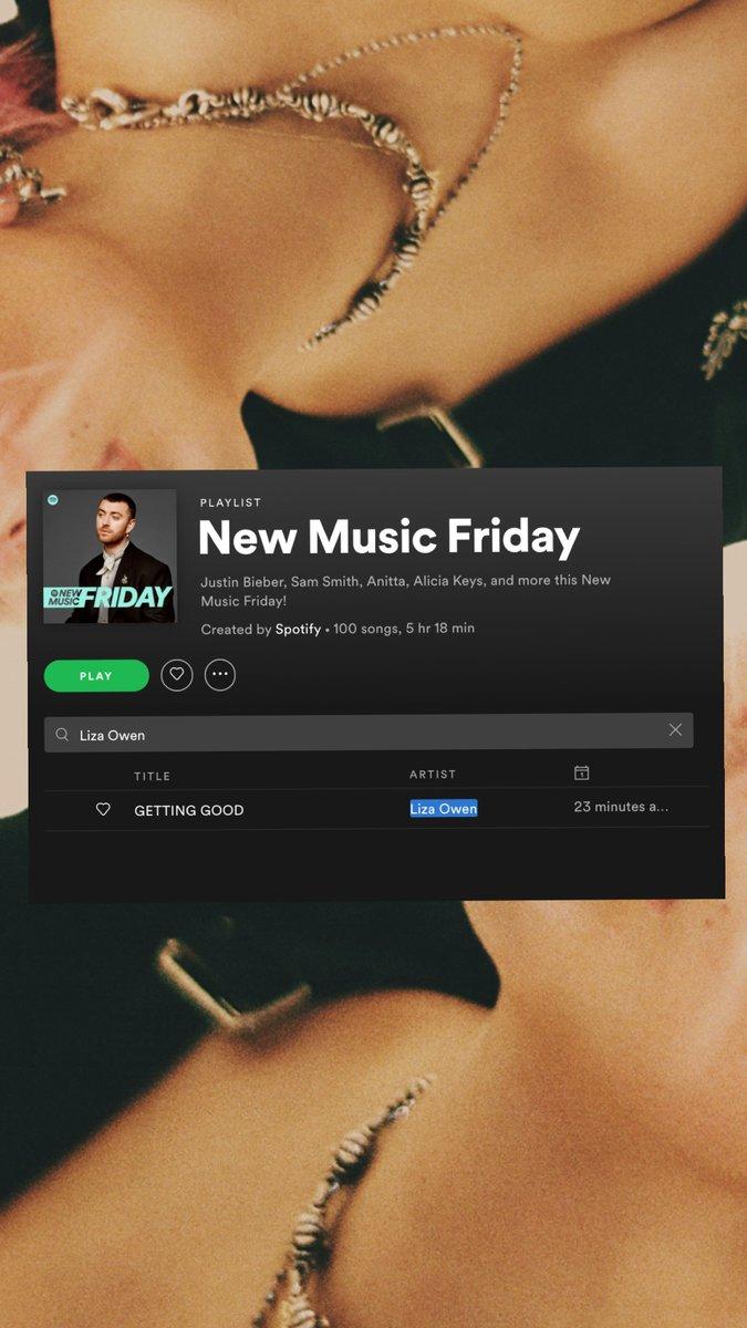 THANK U THANK U THANK UUUU @Spotify ❤️ LISTEN TO GETTING GOOD ON NEW MUSIC FRIDAY: