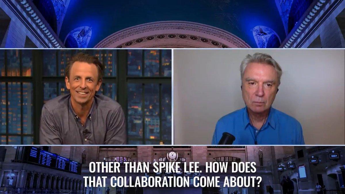David Byrne (@DBtodomundo) explains how Spike Lee came to be involved with #AmericanUtopia. https://t.co/Zq0SbBR9Vt