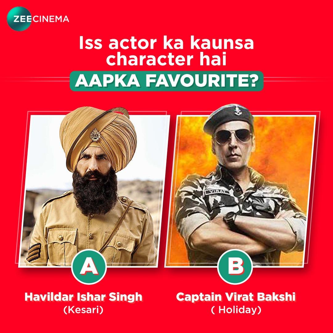 Akshay ke kaunse character ka chadha aap par khumaar?  @akshaykumar #ZeeCinema #SeeneMeinCinema https://t.co/JMkmKLzGWe