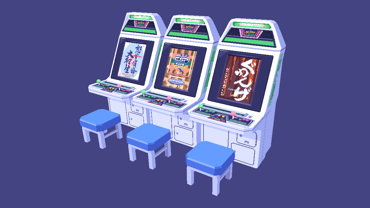 also a version with some cave #shmups!   #sega #astrocity #lowpoly #3d #crocotile #pixelart https://t.co/ZFUXrIWXUb