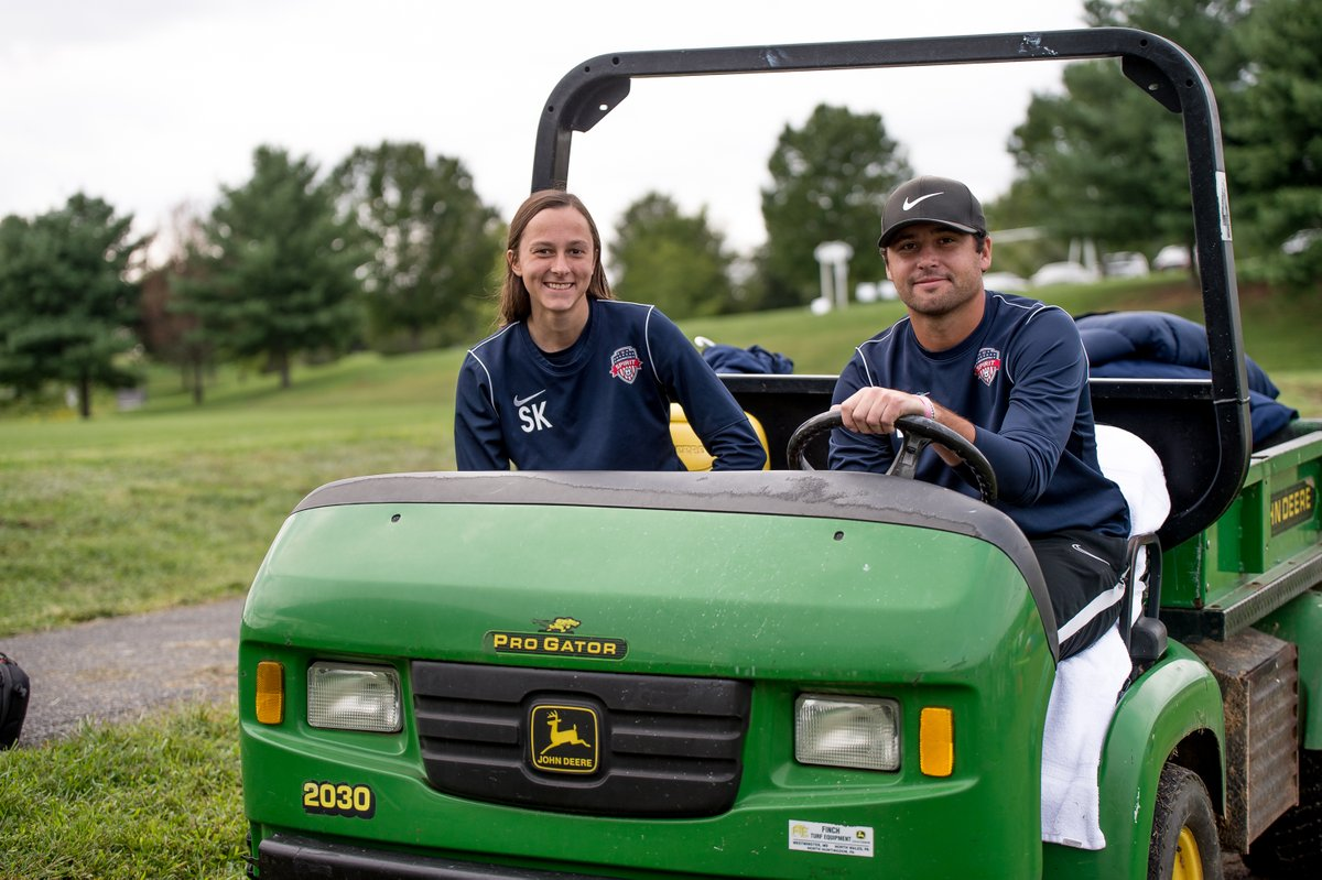 All smiles as Finch helps make the team behind the teams job easier. Thank you @FinchTurf for supporting the Spirit!