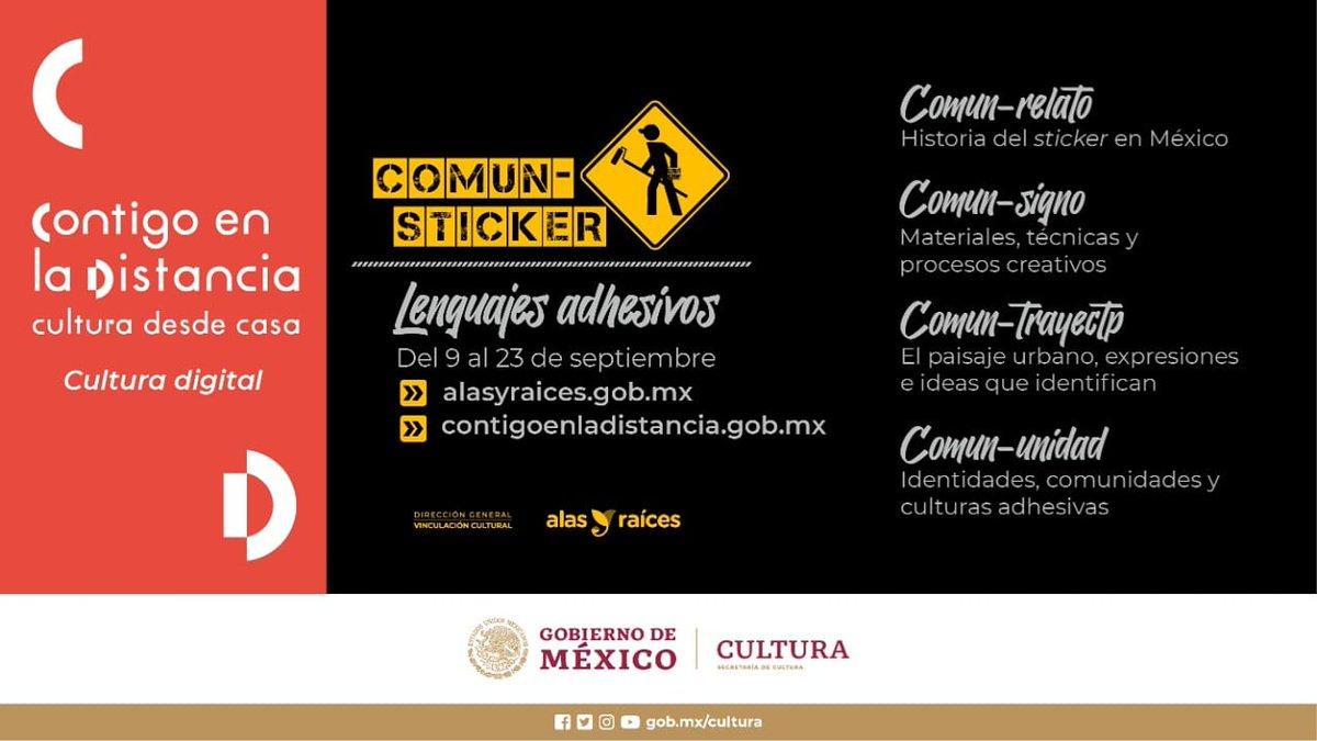 COMUN-STICKER es una exposición digital que pretende reconocer el valor comunicativo del sticker en México.    En ella se muestran los procesos creativos de elaboración y las redes que genera. Visita #ContigoEnLaDistancia 👉🏾 https://t.co/YAiu9FRiEy https://t.co/ZY3G32zQgI