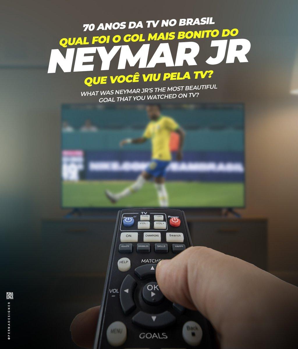 A TV brasileira completa 70 anos! 📺🎉 e o nosso controle remoto tem um botão especial para assistir gols do Neymar Jr 🤩⚽  #Neymar #NeymarJr #NjR #tv #televisão #brasil #brasil #70anostvbrasileira #neymarfans #neymarskills https://t.co/Z50uuMQakZ