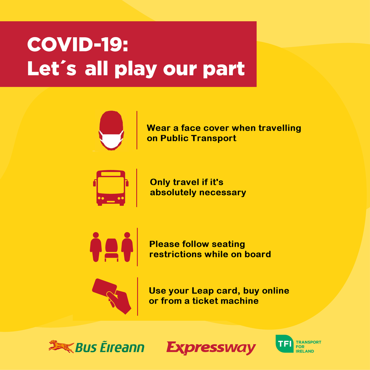 Dublin has entered #Level3 restrictions. Please only travel into & out of Dublin City & County on our services if it's absolutely essential #COVID19 #DublinLockdown #InThisTogether #HoldFirm #Restrictions #BeSafe #LetsAllPlayOurPart @TFIupdates @roinnslainte @HSELive https://t.co/zvWYUXzcaR