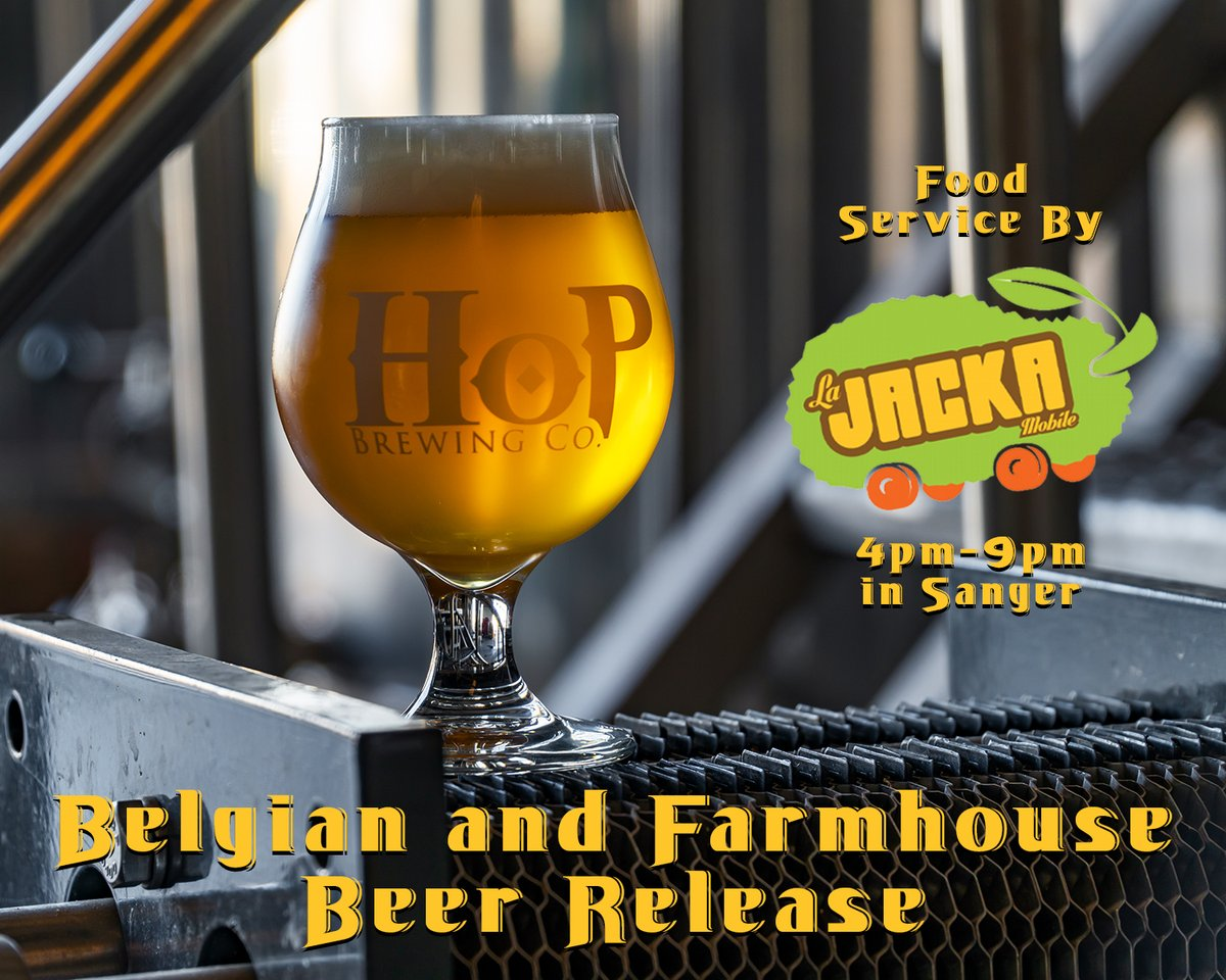 #TGIF & it's #foodtruckfriday Come out to the Sanger brewery and enjoy some La Jacka Mobile Taco Truck with an ice cold beer to kick the weekend off right! Today is our Farmhouse & Belgian beer release in Sanger & Clovis! Come enjoy this beautiful day! https://t.co/BvR9MJ00W7