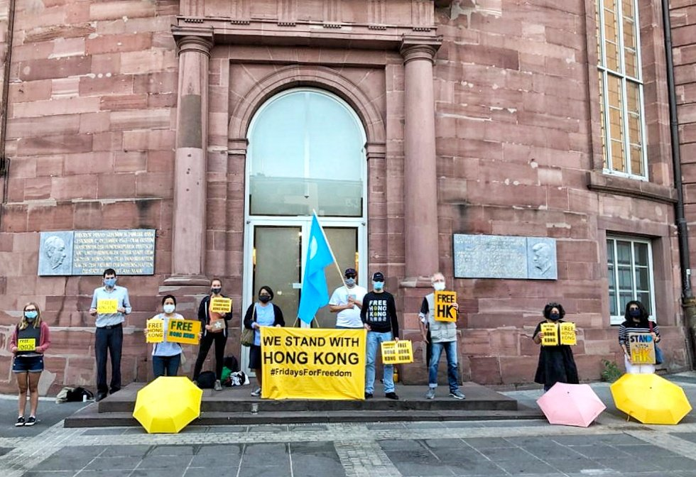 From Frankfurt & from around the world we #StandWithHongKong. Let's raise our voices for the people who can't!  #FridaysForFreedom in #Frankfurt, Germany on 18.9.2020  #StandWithTibet #StandWithUyghurs #FreeHongKong  @NOW4humanity https://t.co/NC68LLCWde