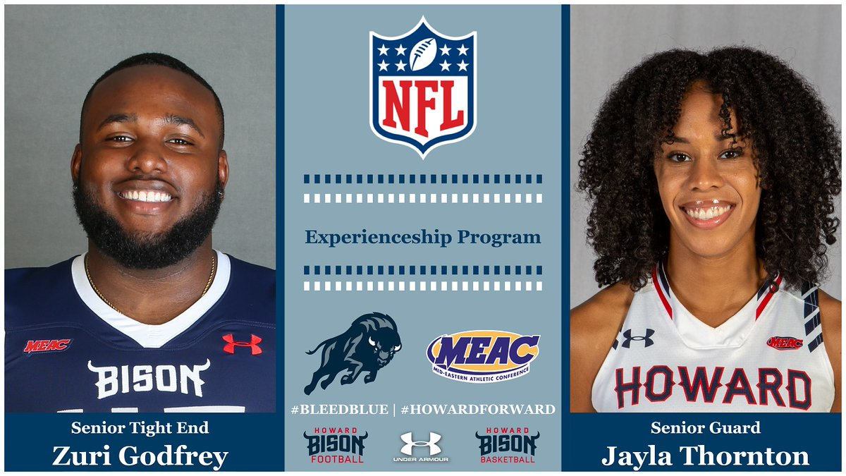 Take a look at these @HUBisonSports student-athletes representing the @MEACSports and @NFL well! Story: thesportspulse.com/2020/09/19/bis… @Jose_M_Umana @Broookksss #HBCU #HBCUUnity #HBCUs #HBCUWeek #BlackTwitter #SportsNews @HowardBison_WBB @HUBISONFOOTBALL @HowardU