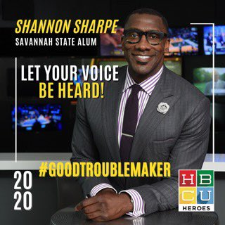 Y'all better not let Nat'l #BlackVoterDay go by w/out making #goodtrouble. I'm partnering w/ @HBCUheroes & my alma mater @SavannahState to make sure we're all registered to #VOTE to hit the polls. Register now! https://t.co/U6DMK31rOs  @morethanavote @WhenWeAllVote @Participant https://t.co/d8HyvxnVtL