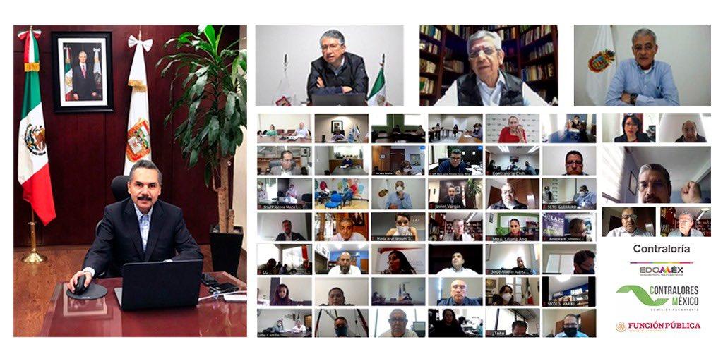 #FelizViernesATodos En representación del @Edomex, participamos en la reunión de trabajo virtual 🖥️ con la Subsecretaría de #Fiscalización y #CombateALaCorrupción de la @SFP_mx, organizada por @ContraloresMX. #MejoraContinua. #Contralores2020 #CentroPacífico 🔎 https://t.co/QQiGrx61Zu