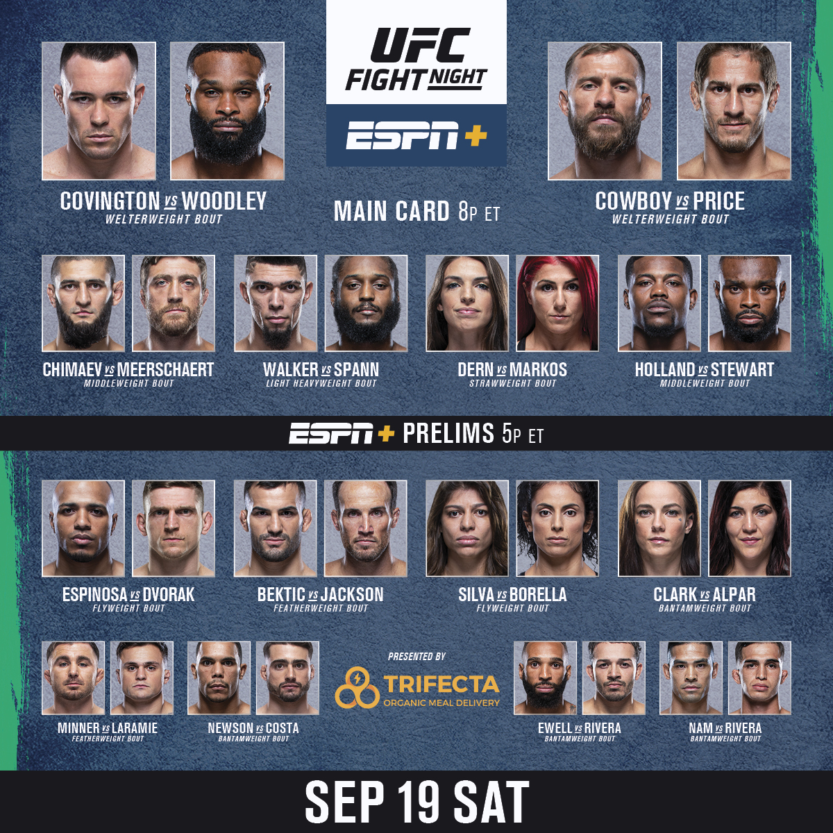 This is one you don't want to miss! 🍿  It's FIGHT DAY for #UFCVegas11 - LIVE on #ESPNPlus   [ B2YB @TrifectaSystem ] https://t.co/i1YwcaXMeh