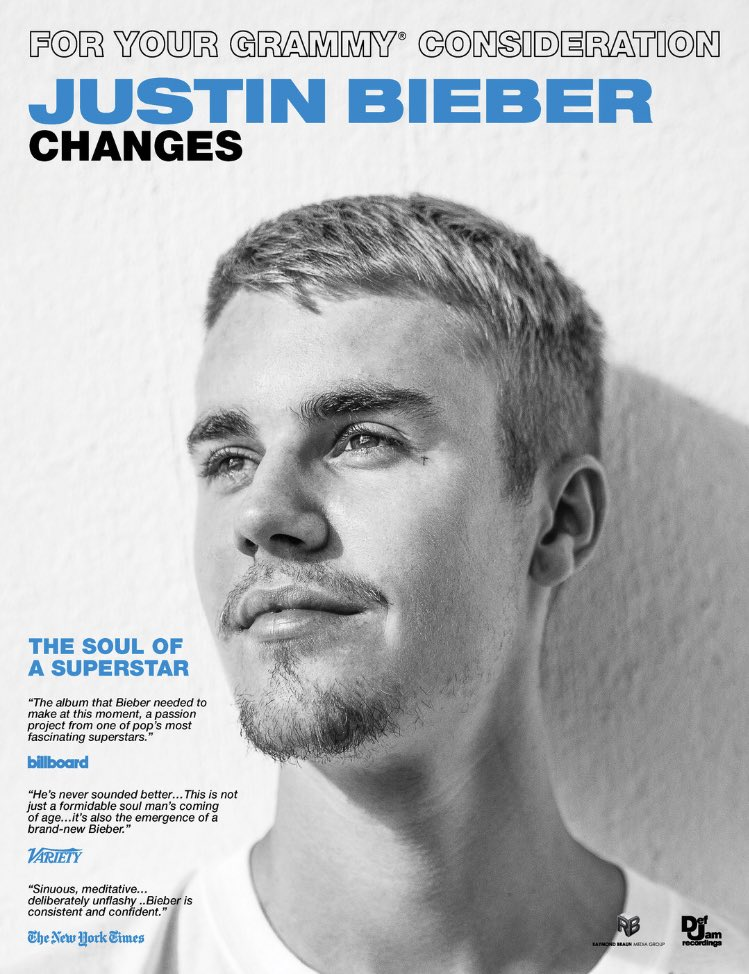 Justin Bieber's album, Changes, has been submitted for the 2021 Grammys!