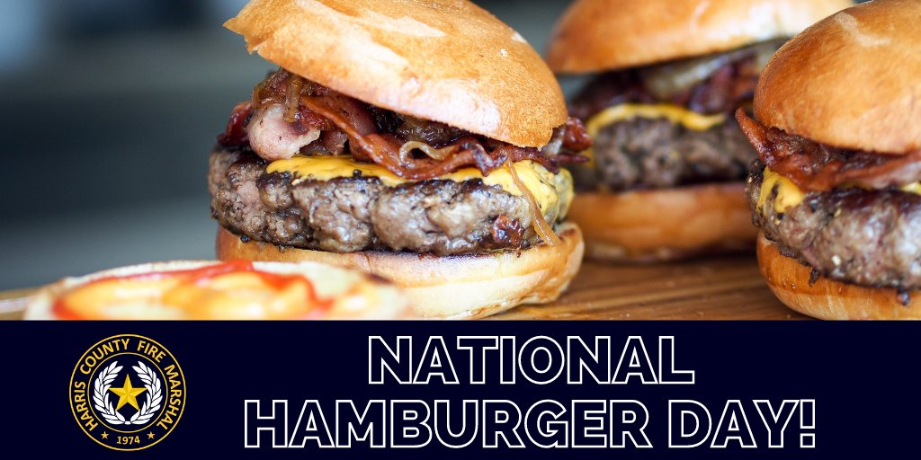 Happy #NationalHamburgerDay! If you plan on celebrating tonight or this weekend, be sure to grill well away from your home, deck railings and out from under eaves and overhanging branches. Also, NEVER leave a grill unattended while cooking. #FirePrevention #FireSafety https://t.co/dYeaZH3LzZ