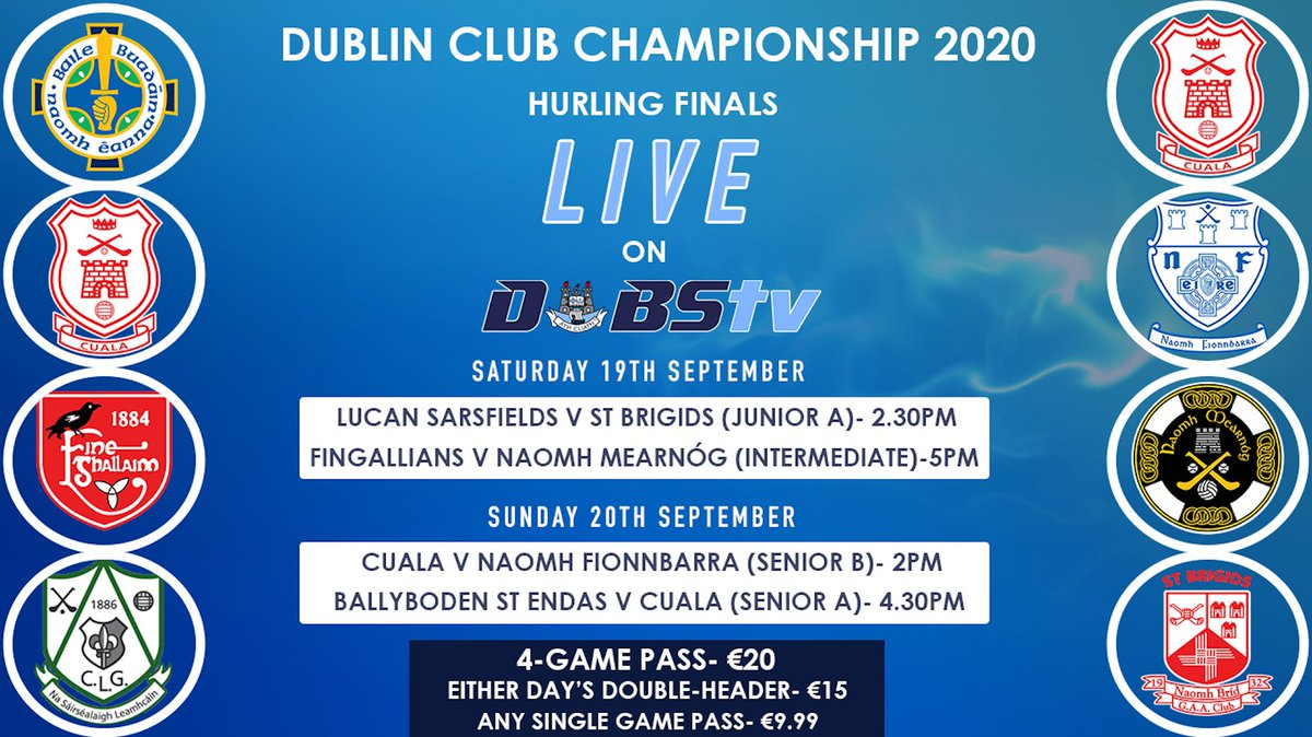 test Twitter Media - Don't forget- we've four Dublin Hurling Finals LIVE on DubsTV this weekend.   Details here: https://t.co/A1dmSd9rTP https://t.co/SxxXo3CoUJ