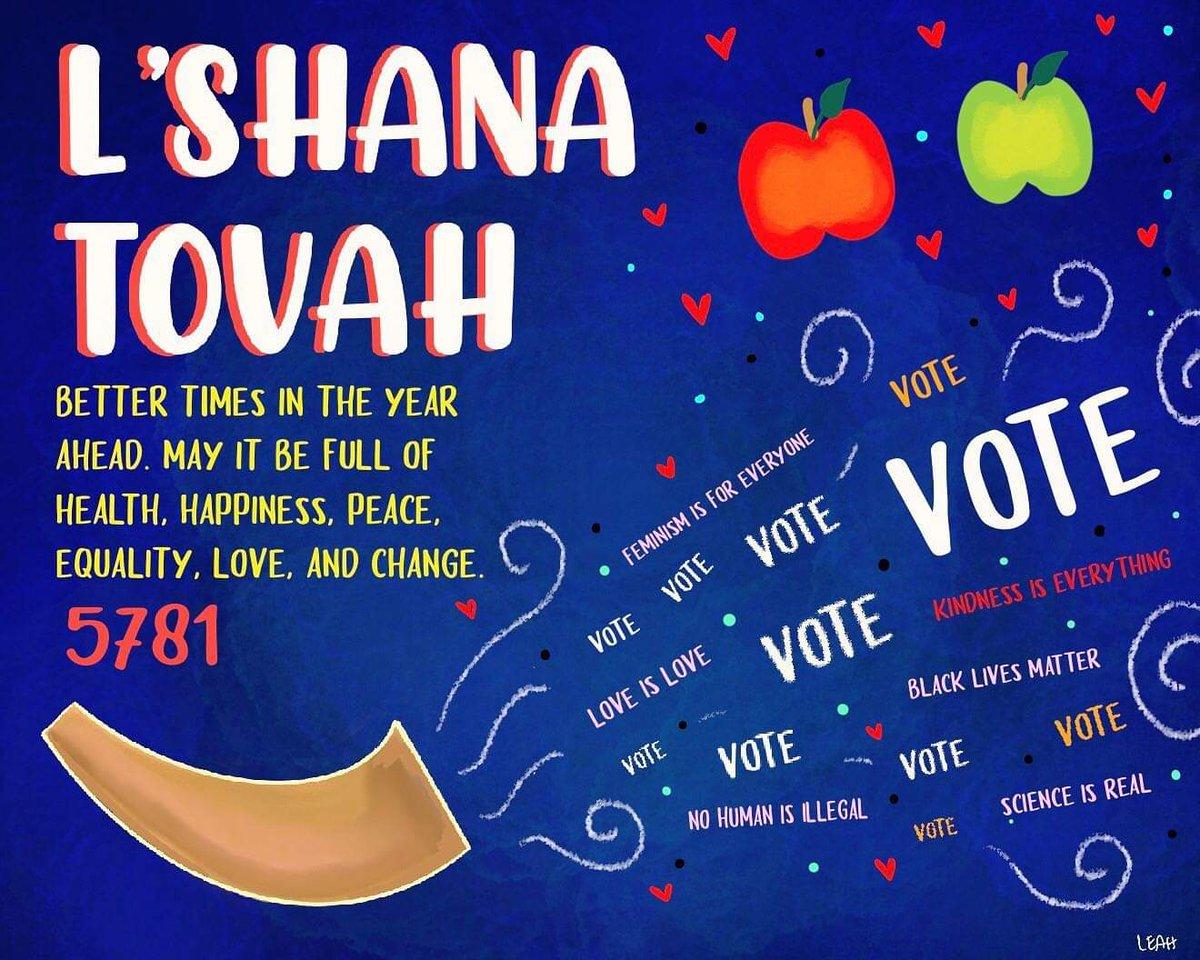 Shana Tova !!! שנה טובה #kindnessiseverything Art by Leah Levy https://t.co/WhC0u992Tm