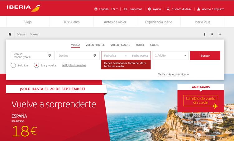 · @Iberia amplía hasta el 20 de septiembre su mejor campaña de precios y con flexibilidad para cambiar de fecha o destino · https://t.co/ypXSSeKTpS  #Viajar #Travelers https://t.co/qhozOfXXOp