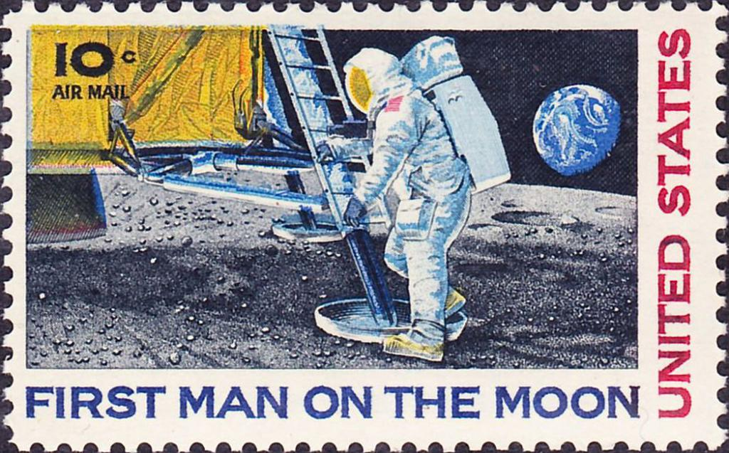 """#OTD in 1969, the United States Postal Service (@USPS) announced a delay in the delivery of first day of issue Apollo 11 moon landing stamps due to an """"unprecedented number of requests... from all over the world. Image from @PostalMuseum"""