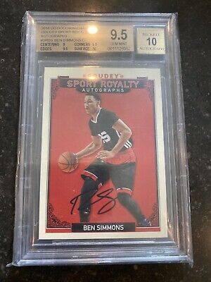 BEN SIMMONS 2016 UD GOODWIN CHAMPIONS GOUDEY AUTO RC SP BGS 9.5/10 ROY!!! https://t.co/5MuFP1yGSy #sportsmemorabilia #sportcards #collect https://t.co/M1I13MXwJa