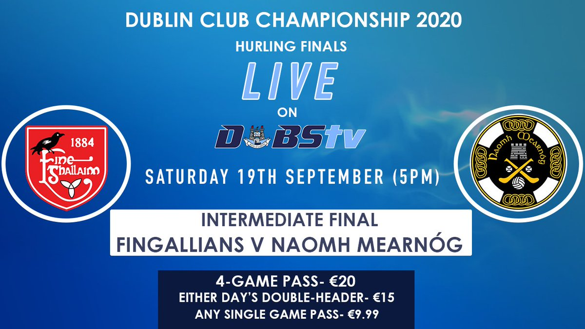 test Twitter Media - The #DIHC Final takes place at Parnell Park this evening  ⚫️ @Fingallians v @naomhmearnog   Watch the game LIVE on DubsTV ➡️ https://t.co/A1dmScRQvf https://t.co/36faqZmnNr
