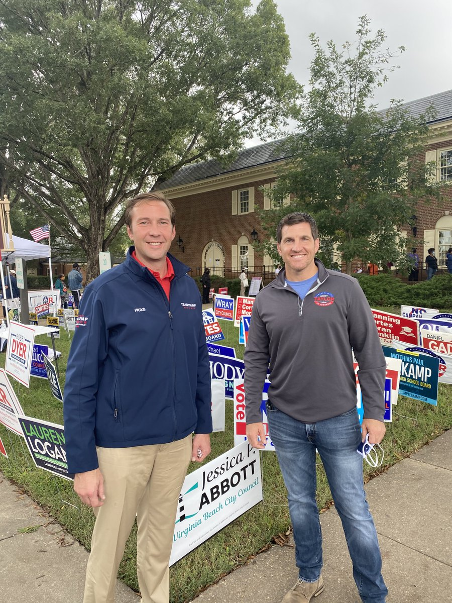 It is the first day of early voting today in Virginia Beach, VA! Great being with @Scotttaylorva and getting out the vote for @realDonaldTrump.