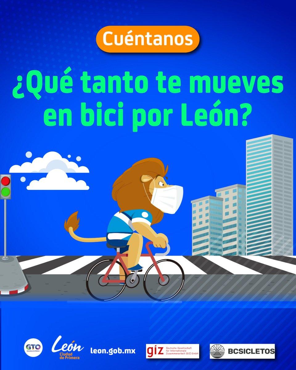 🚴🏼♂️🚴♀️ Nos encantaría saber cómo te mueves por León.  Ayúdanos respondiendo el siguiente formulario  ⬇️.   📲https://t.co/7lFndw7fGy https://t.co/9khaEPONYX