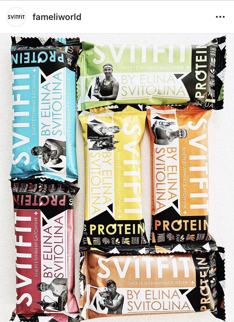 #SViTFiT Energy bars produced by @ElinaSvitolina 😲🤩 Row, vegan, suger free, gluten free. It looks so good! I really want that.   IG username is fameliworld🥰 #FamEli  more details👉 https://t.co/uwT1OI9m83 https://t.co/ZPrIGo3ihH